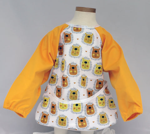 "Long Sleeve Full Bibs - ""Yellow Lion Faces"""