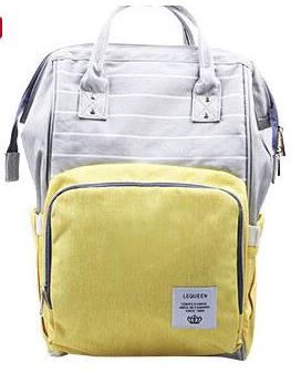 "Backpack Diaper Bag ""Yellow With Stripes"""