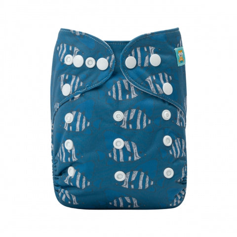"Alva Pocket ""Blue Striped Fish"""