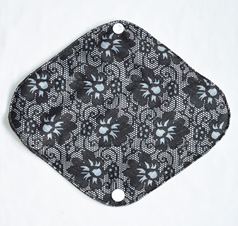 "Cloth Pad Bamboo 8"" Liner ""Black Lace"""