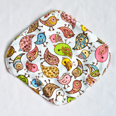 "Cloth Pad Bamboo 8"" Liner ""Birds"""