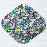 "Cloth Pad Bamboo 8"" Liner ""Paisley Elephants"""
