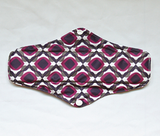 "Cloth Pad Bamboo 10"" ""Purple Moroccan"""