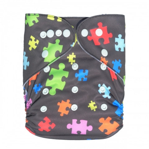 "Alva Pocket ""Puzzle Pieces"""