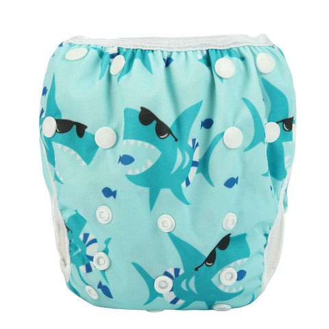 "Sigzagor Swim Diaper ""Blue Sharks"""