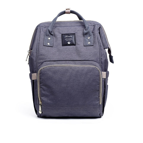 "Backpack Diaper Bag ""Dark Grey"""
