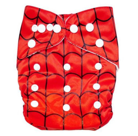 "Alva Pocket ""Red Spider Web"""