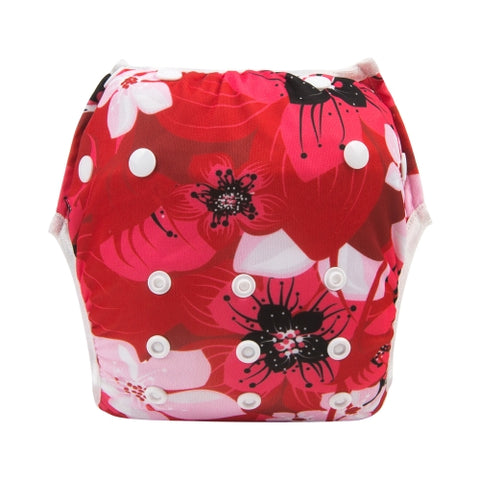 "Alva Swim Diaper ""Red Flower"""