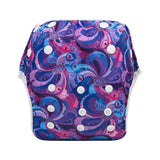 "Alva Swim Diaper ""Purple Twirls"""