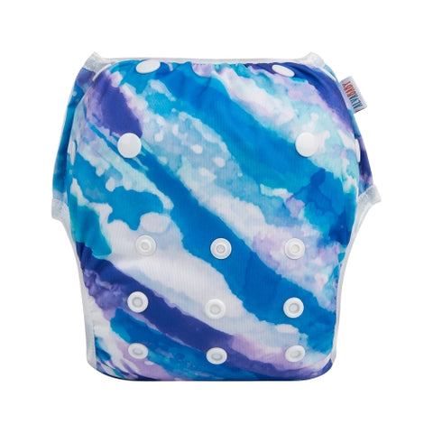 "Alva Swim Diaper ""Purple Watercolor"""