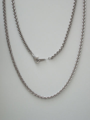 "Sterling Silver Wheat Chain 18"" 2.5mm - Jemel"