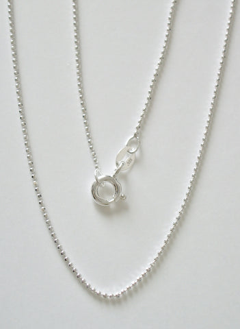 Silver Jewelry - STERLING SILVER FACETED BEAD CHAIN