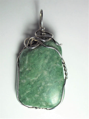 Amazonite Pendant Wire Wrapped .925 Sterling Silver - Jemel