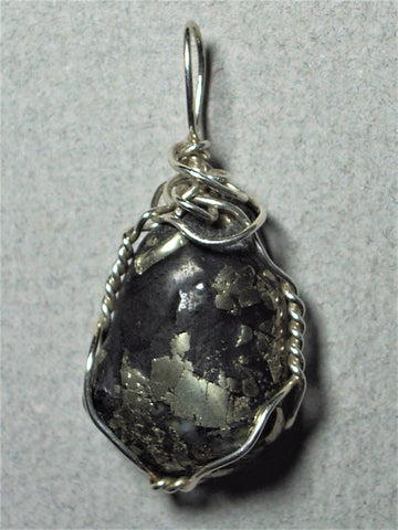 Apache Gold Pendant Wire Wrapped .925 Sterling Silver