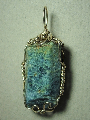 Aquamarine Crystal Pendant Wire Wrapped 14/20 Gold Filled