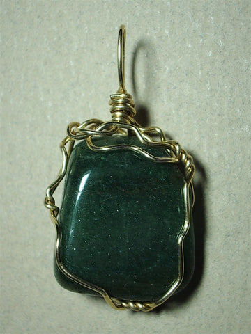 Aventurine Pendant Wire Wrapped 14/20 Gold Filled - Jemel