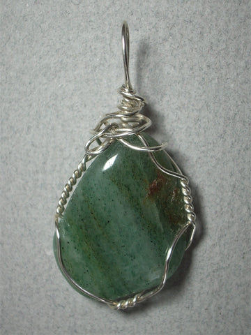 Aventurine Pendant Wire Wrapped .925 Sterling Silver