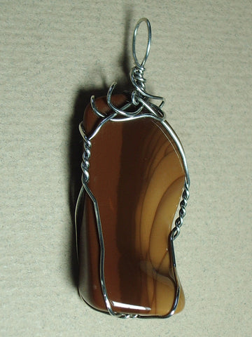 Bruneau Jasper Pendant Wire Wrapped .925 Sterling Silver - Jemel