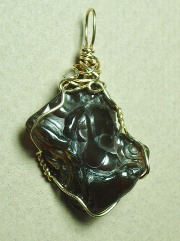 Chalcedony Jewelry: Chalcedony Rose Pendant Wire Wrapped 14/20 Gold Filled