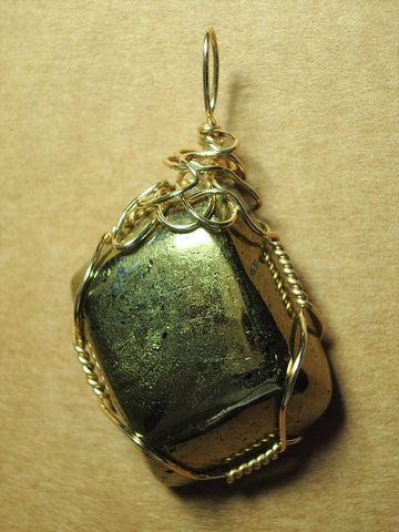 Chalcopyrite Pendant Wire Wrapped 14/20 Gold Filled