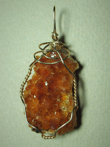 Citrine Crystal Cluster Pendant Wire Wrapped 14/20 Gold Filled - Jemel