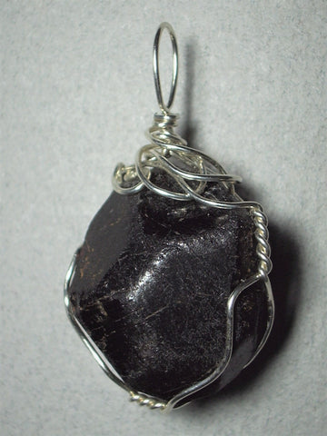 Garnet Crystal Pendant Wire Wrapped .925 Sterling Silver