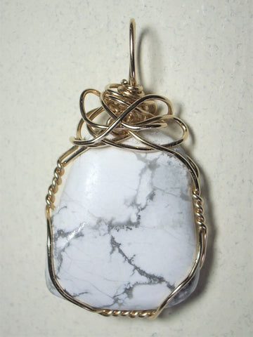 Howlite Pendant Wire Wrapped 14/20 Gold Filled