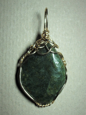 Nephrite Jade Stone Pendant Wire Wrapped 14/20 Gold Filled - Jemel