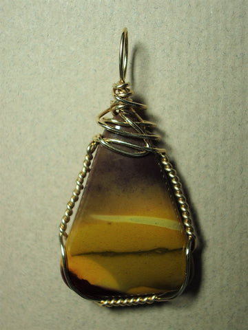 Mookaite Jasper Pendant Wire Wrapped 14/20 Gold Filled