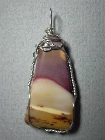 Jasper, Mookaite Pendant Wire Wrapped .925 Sterling Silver