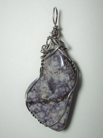 Jasper, Rock Hill Pendant Wire Wrapped .925 Sterling Silver