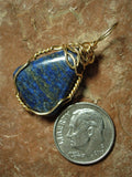 Lapis-Lazuli Pendant Wire Wrapped 14/20 Gold Filled - Jemel