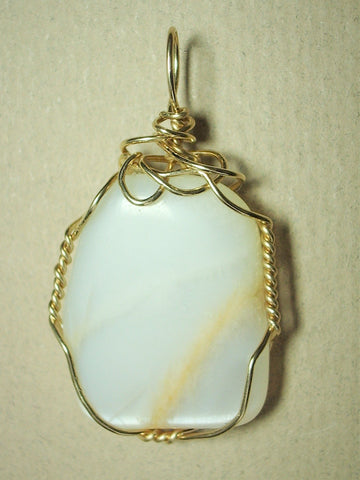 Moonstone Pendant Wire Wrapped 14/20 Gold Filled