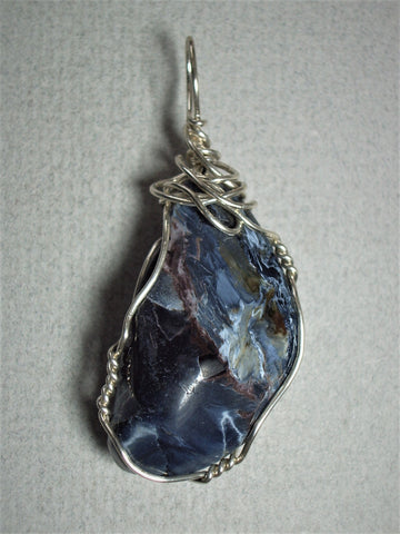 Pietersite Pendant Wire Wrapped .925 Sterling Silver - Jemel