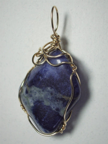 Sodalite Pendant Wire Wrapped 14/20 Gold Filled