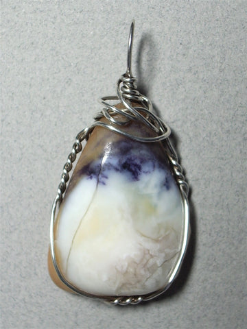 Tiffany Stone Pendant Wire Wrapped .925 sterling silver