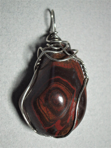Tiger Iron Pendant Wire Wrapped .925 Sterling Silver - Jemel