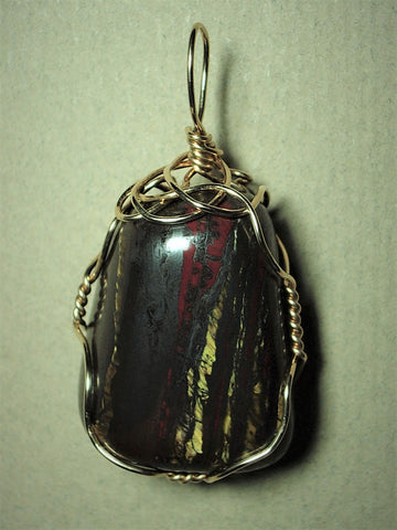 Tiger Iron Pendant Wire Wrapped 14/20 Gold Filled - Jemel