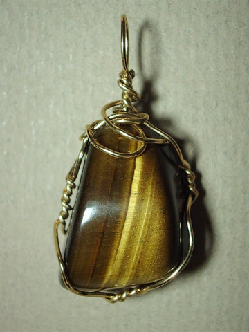 Golden Tiger's-Eye Pendant Wire Wrapped14/20 Gold Filled