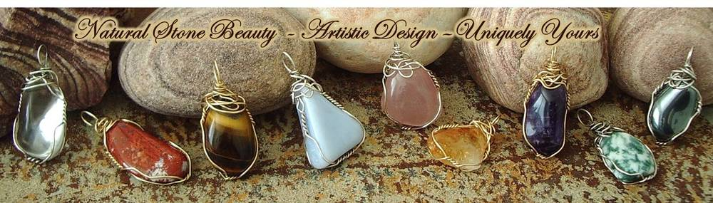 Sterling Silver and Gold-Filled Wire Wrapped Pendants