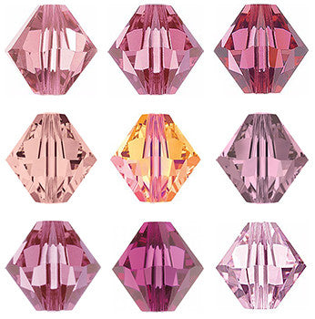 Swarovski Austrian Crystals: Their Many Shades of Pink