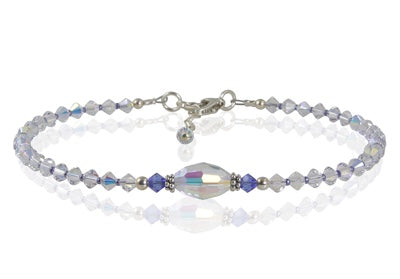 Elegant Blue Swarovski Austrian Crystals: Sky, Waters, Eternity