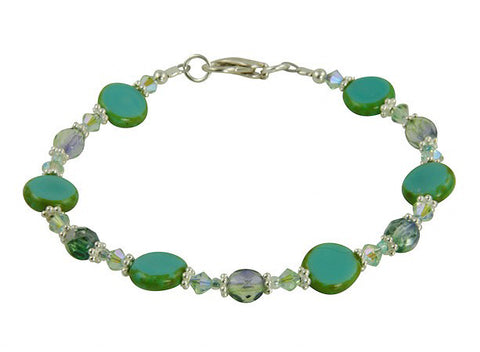 Czech glass bracelet