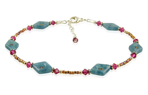 ruby quartz anklet