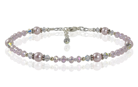 pink pearl anklet