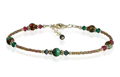 topaz beaded anklet
