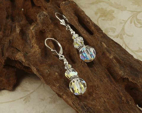 crystal beaded earrings