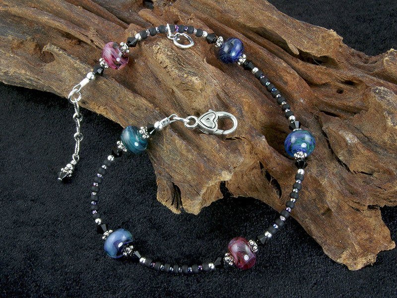 lampwork beaded anklets