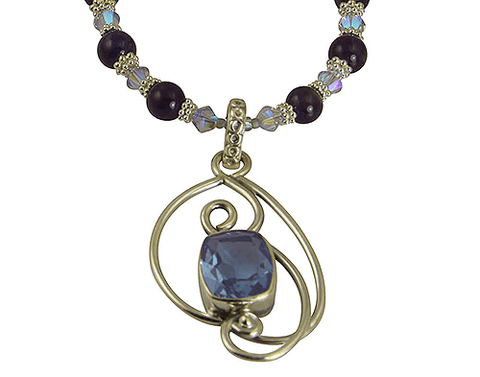 alexandrite amethyst necklace