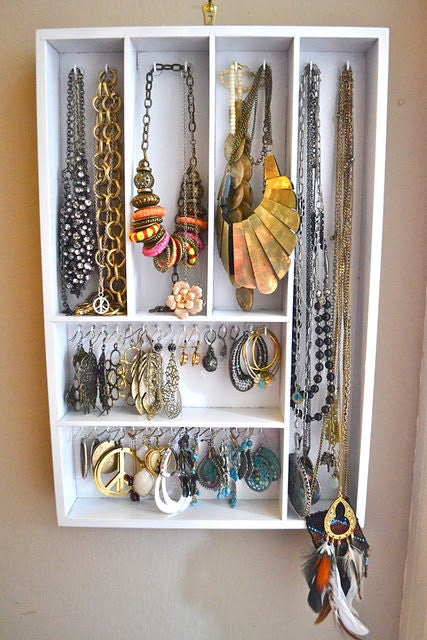 wooden utensil jewelry organizer